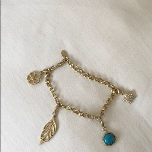 Lia Sophia Charm bracelet with charms